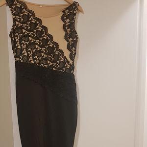 Black bodycon long dress(polyester)